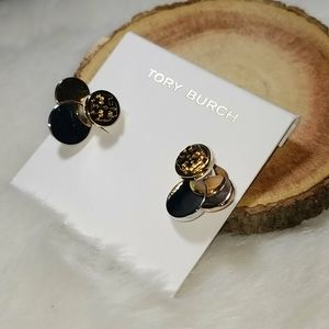 Tory Burch 3 tone earrings